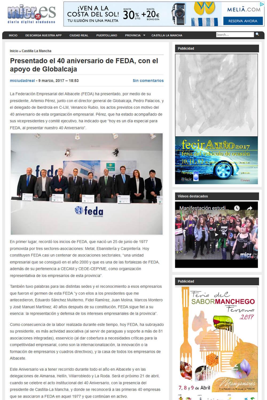 El 40 Aniversario de FEDA en la prensa - FEDA