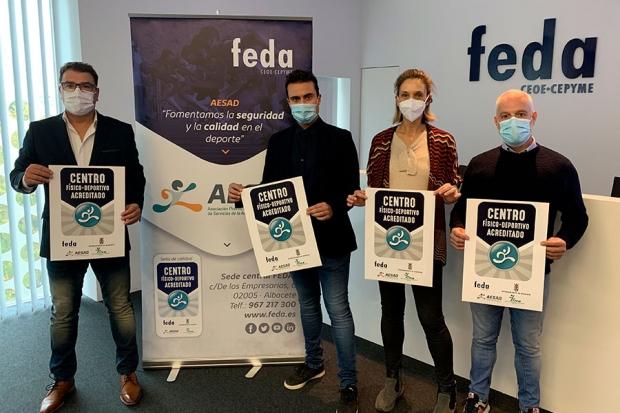 """Fotografía de AESAD, Ayuntamiento de Albacete e IMD lanzan el distintivo """"Centro Físico Deportivo Acreditado"""", ofrecida por FEDA"""