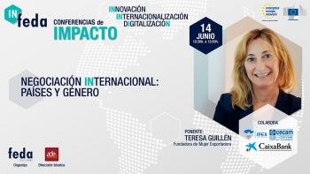 Broche de oro al programa IN-FEDA con una conferencia de impacto sobre negociación internacional, países y género