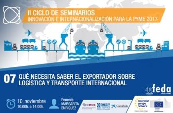 Sesión práctica en FEDA para el exportador sobre logística y transporte internacional